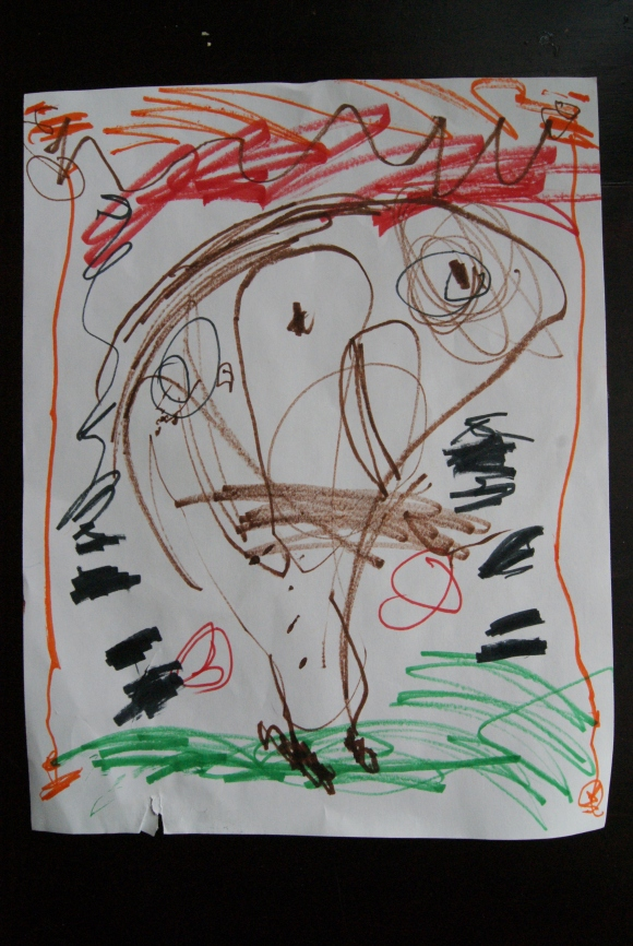 kid art: self portrait